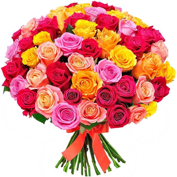 Открытки разноцветные розы, днем рождения открытка